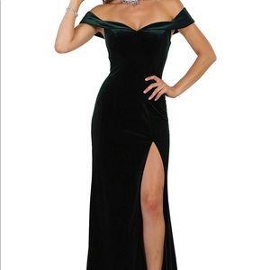 Long off the shoulder formal dress, only worn once